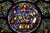 19th century glass in chevet, detail, the Risen Christ