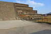 """Adosada (""""attached"""") platform built in 4th century, view of right side from ground level"""