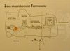 Diagram of the archaeological zone of Teotihuacan depicting original location of mural